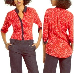 🔥 MAEVE ANTHRO 🔥 bagatelle polka dot blouse 12